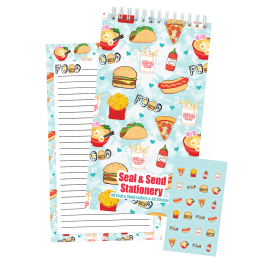 Picture of Junk Food Seal & Send Stationery