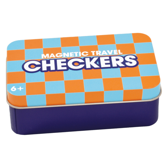 Picture of Checkers Magnetic Tin Travel Game