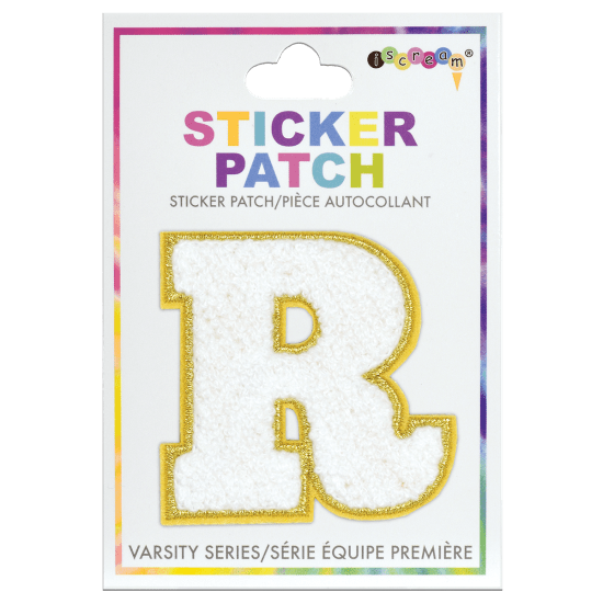 Picture of R Initial Varsity Sticker Patch