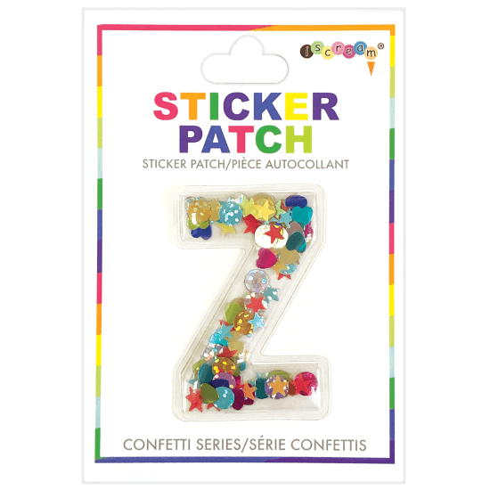 Picture of Z Initial Confetti Sticker Patch