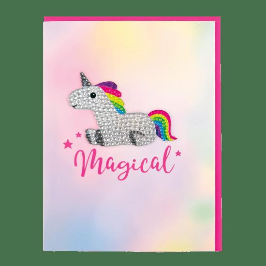 Picture of Unicorn Rhinestone Decal Greeting Card