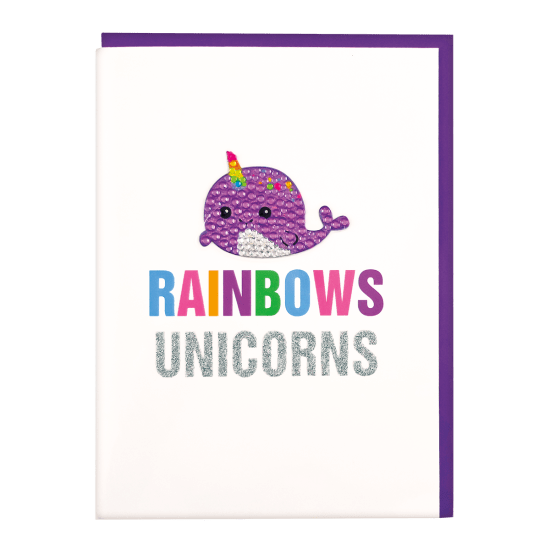 Picture of Narwhal Rhinestone Decal Greeting Card