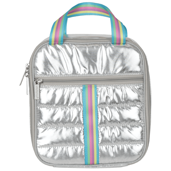 Picture of Silver Rainbow Puffer Lunch Tote