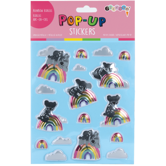 Picture of Rainbow Koalas Pop-Up Stickers