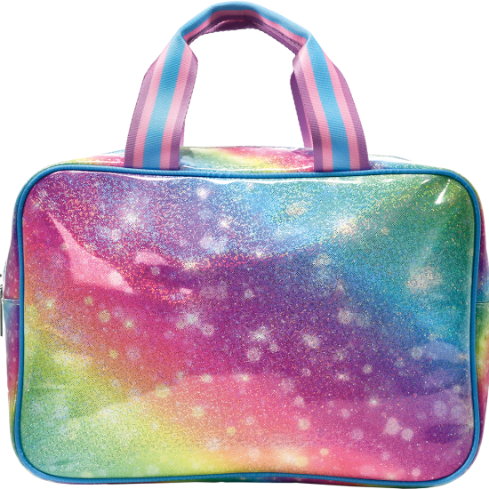 Picture of Shimmering Rainbow Large Cosmetic Bag