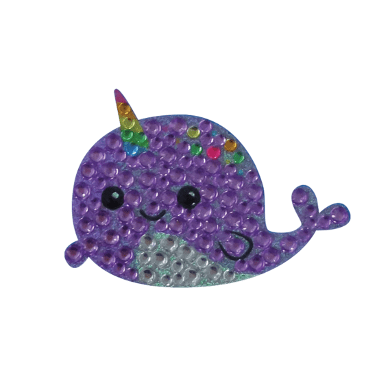 Picture of Narwhal Rhinestone Decal Small