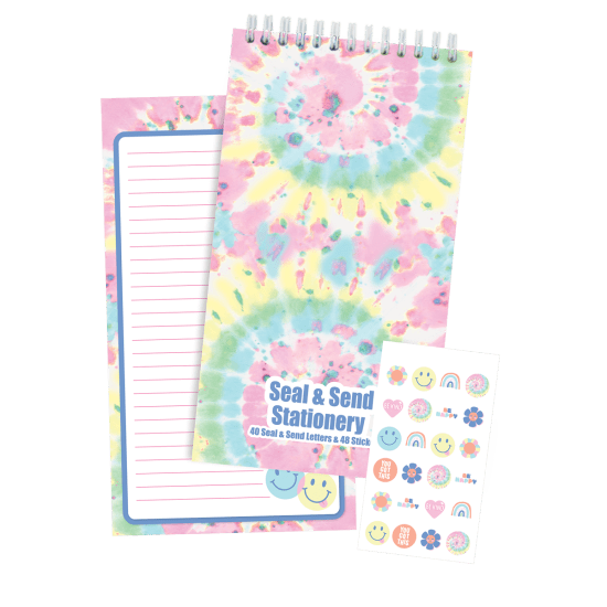 Picture of Swirl Tie Dye Seal & Send Stationery