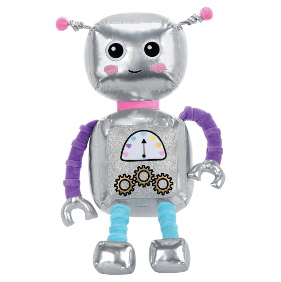 Picture of Rosie Robot Metallic and Fleece Bestie Pillow