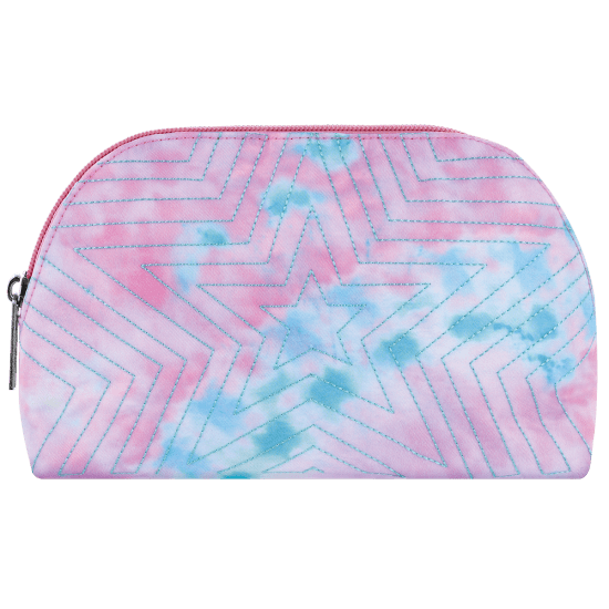 Picture of Silver Star Quilted  Oval Cosmetic Bag