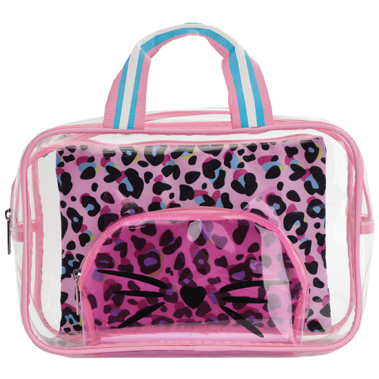 Picture of Pink Leopard Cosmetic Bag Trio