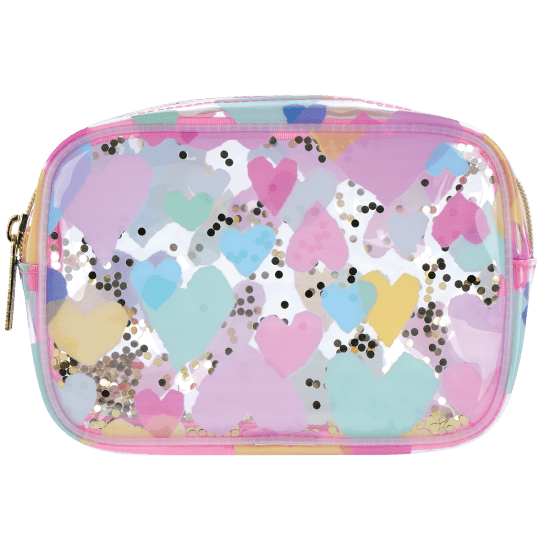 Picture of Pastel Hearts Clear Cosmetic Bag