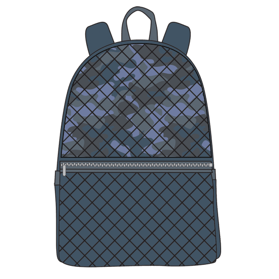 Picture of Blue Camo Quilted Backpack
