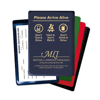"""Picture of """"Arrive Alive"""" Insurance Card Holder"""