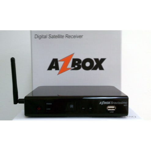 Receptor Azbox Moozca Bravissimo TWIN CS HD 1080p Wifi usb IKS