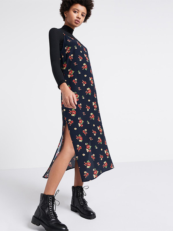 Alex Floral Midi Slip Dress