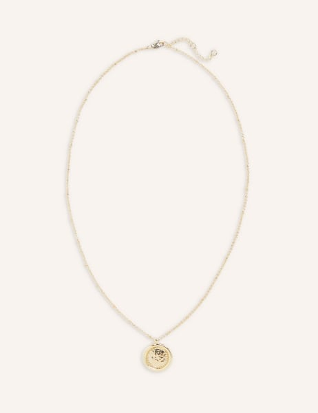 Amy Hammered Disc Necklace