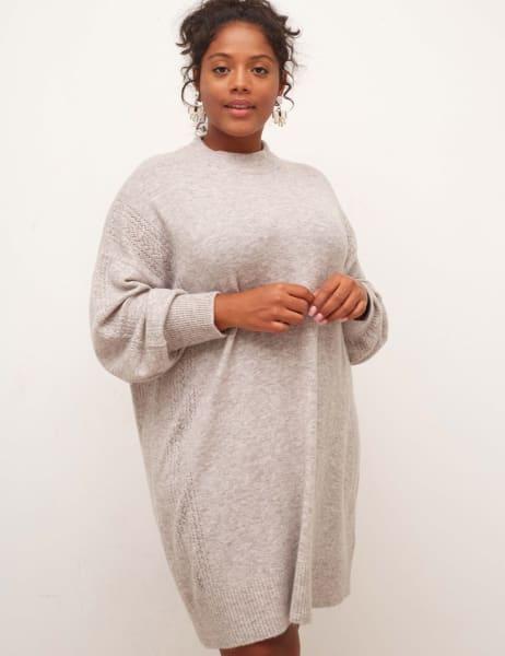 Curve Pointelle Mini Dress