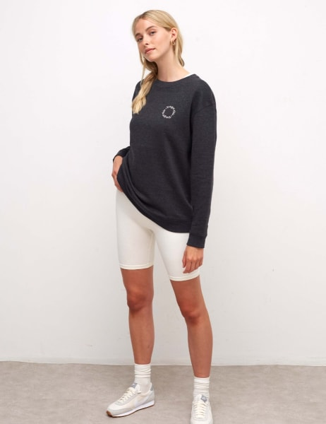 Embroidered Longline Sweater
