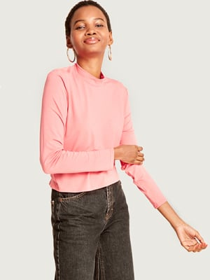 Pink Funnel Neck Top