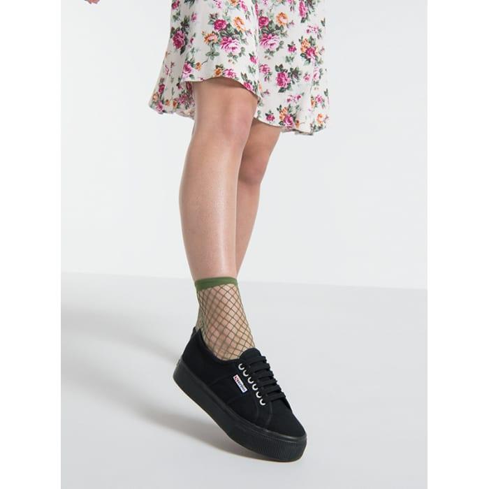 ef8fdd3cf686c Khaki Luna Oversized Fishnet Ankle Sock