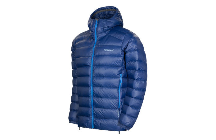 Norrona lightweight down750 jacket for ski touring