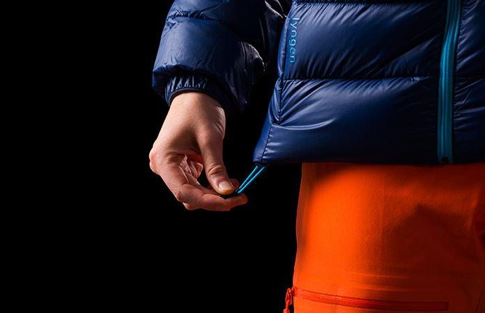 Norrøna lyngen lightweight down750 jacket ski touring - hem adjustment