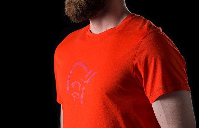 Norrøna t-skjorte i økologisk bomull til herre