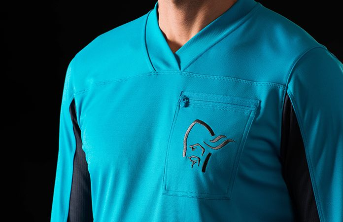 norrøna long sleeve technical shirt for biking