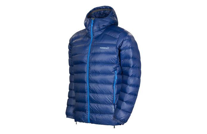 Norrona lightweight down750 jacket for ski touring