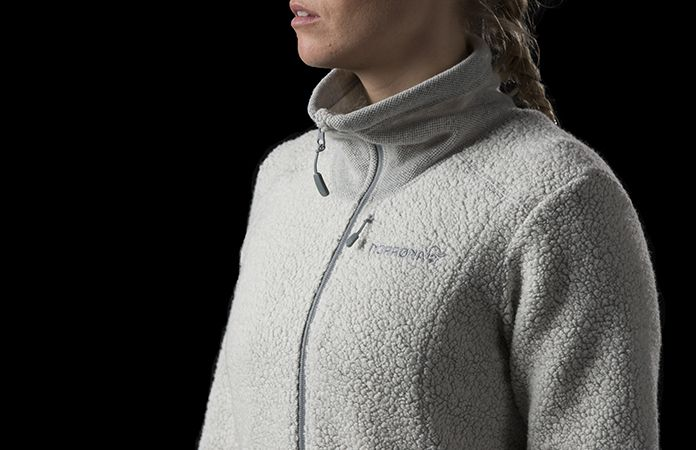 Norrona svalbard wool jacket for women