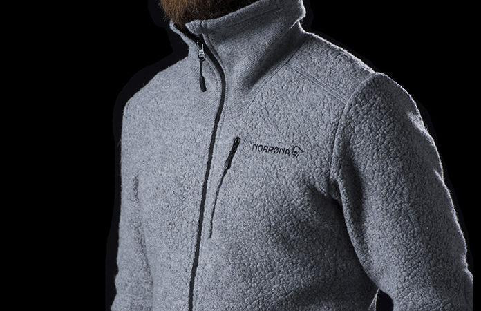 Norrona svalbard wool jacket for men
