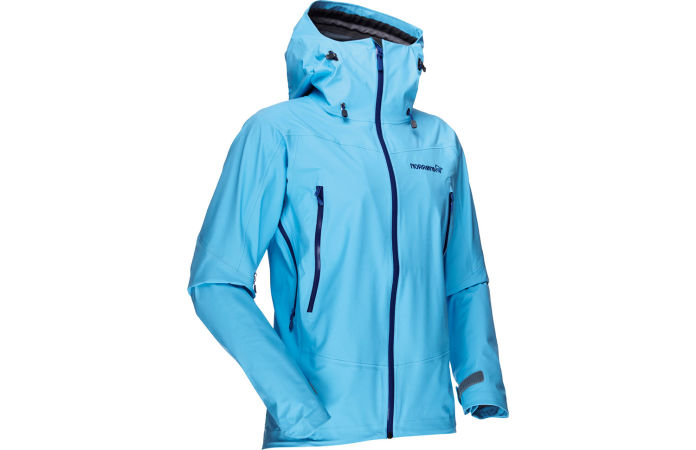 Norrona falketind womens jacket with Gore Tex for hiking and climbing