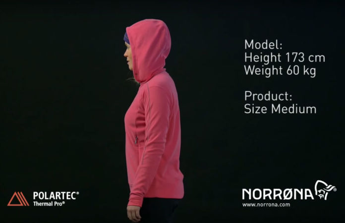 Norrona hoodie fleece for women falketind Polartec