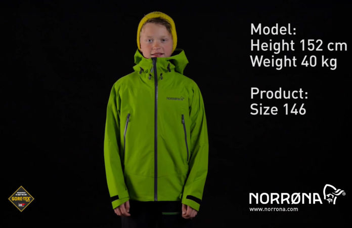 Norrona falketind waterproof jacket kids