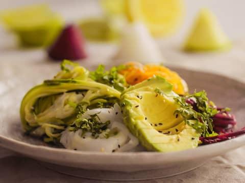 Spiraliserte grønnsaker med Kavli MagerOst Jalapeño