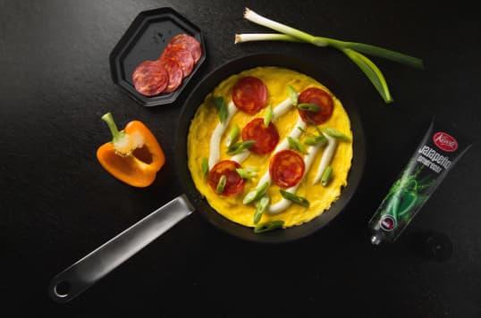 Omelett med Kavli Smaksrik Jalapeño-ost