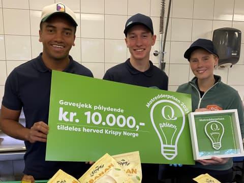 Gründerne i Krispy Norge vant Q-Matredderprisen.
