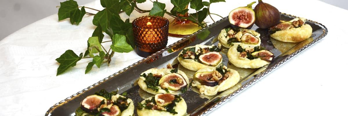 Ädelost och fikon smördegsflan