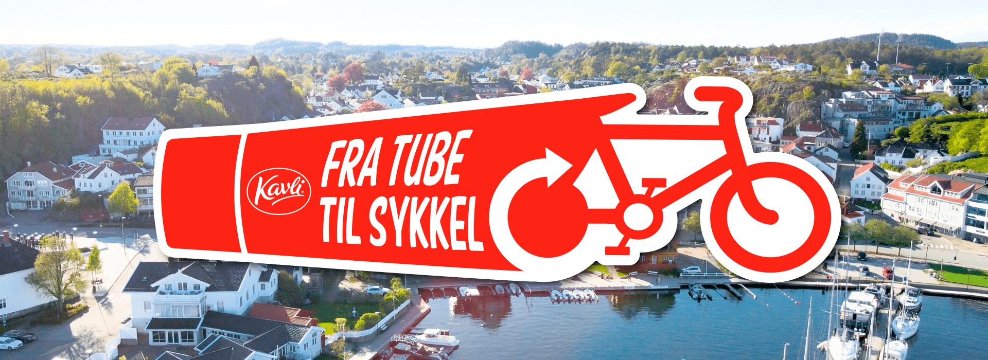 Fra tube til sykkel: 1000 resirkulerte Kavli-tuber = en ny sykkel!