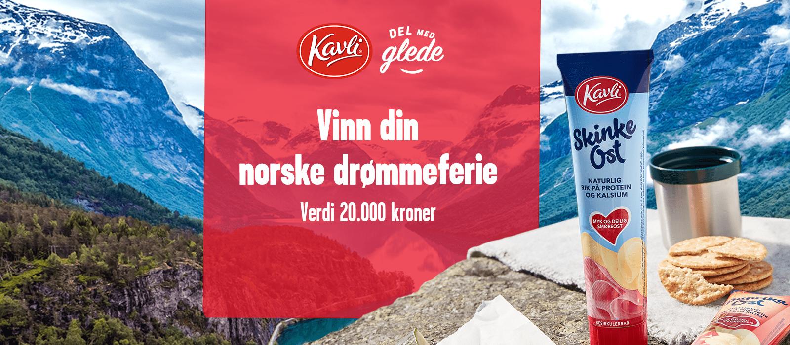 Kavli-konkurranse: Vinn din norske drømmeferie til en verdi av 20.000 kroner.