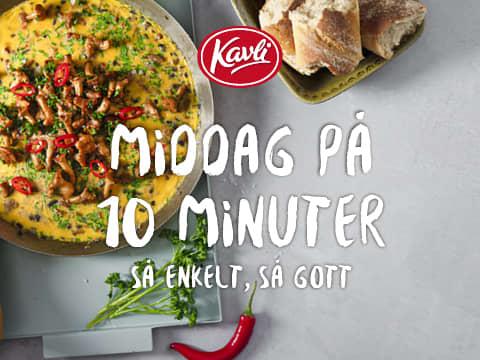 Middag på 10 minuter - Nya goda recept - bild på gryta med bröd