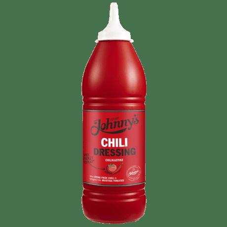 Johnny's Chilidressing i pipflaska
