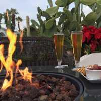 poolside happy hour -POSH Palm Springs Inn boutique bed & breakfast