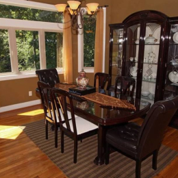 dining room The Villa at Waters Edge - a Luxury Vacation Rental on Lake Wylie in Belmont NC