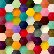 Painel Fotográfico Abstrato 3D Hexagono Origini