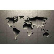 Painel Fotográfico Mapa Mundi 3D Origini