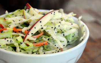 Apple Salad with Lemon Poppy Seed Dressing