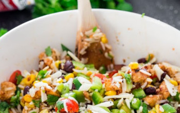 Avocado, Chicken, and Rice Salad