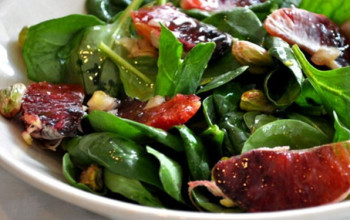 Blood Orange Spinach Salad with Pine Nuts