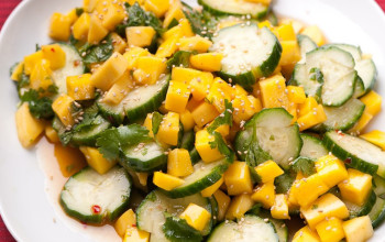 Chopped Mango and Cucumber Salad